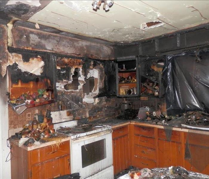 Fire Damage Overwhelms Living Space