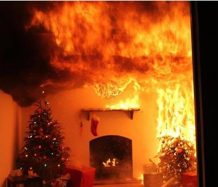 Fire Damage Being Safe While Decorating for the Holidays!